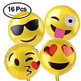 Kuuqa Reusable Emoji Mylar Party Balloons Emoji Balloons Emoji Party ...