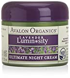 Avalon Organics Ultimate Night Cream, Lavender Renewal & Vitality, for Sensitive Skin, 2-Ounces (Pack of 2)
