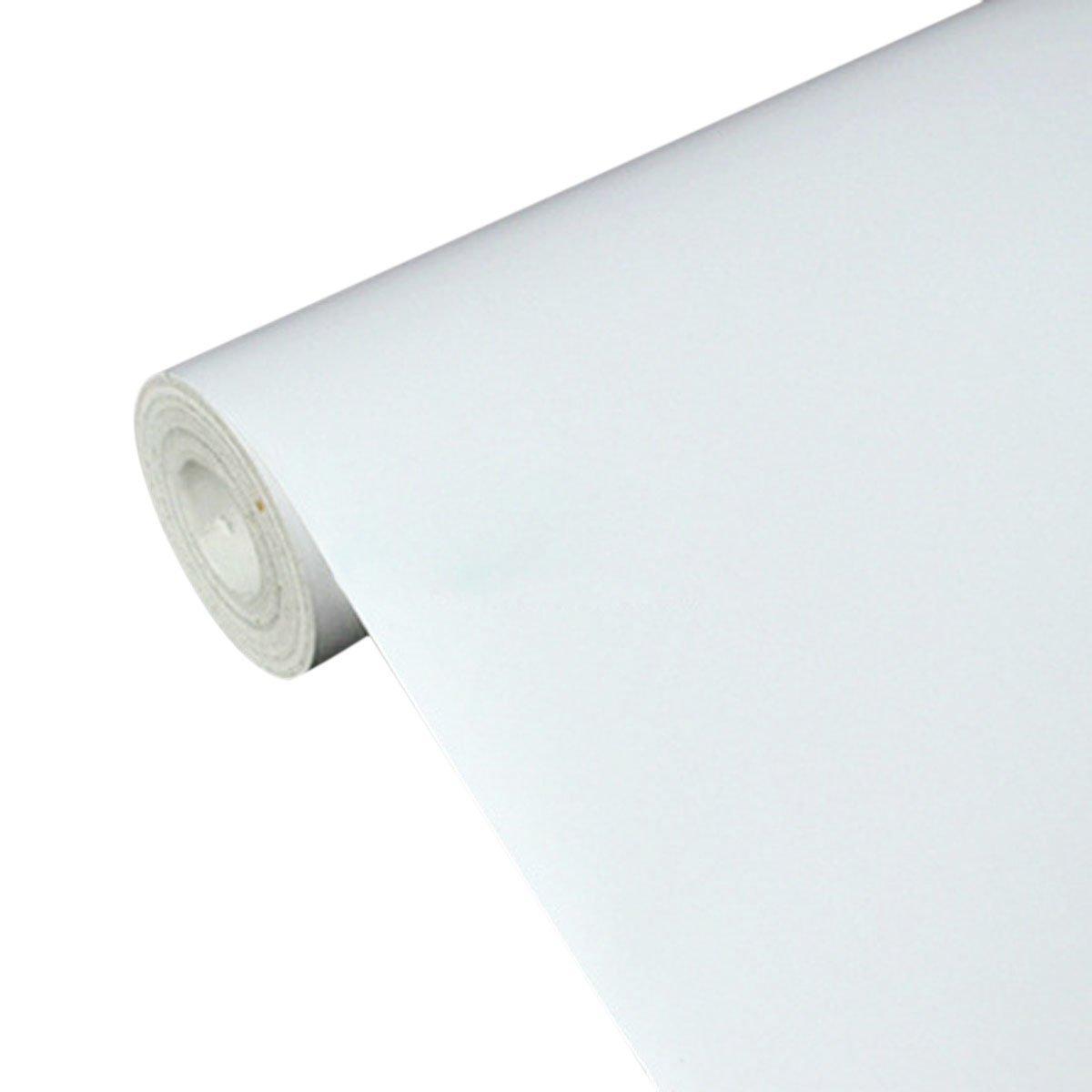 uniquebella papier peint auto adh sif 45cmx10m blanc stickers autocollant muraux d coration pour. Black Bedroom Furniture Sets. Home Design Ideas