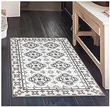 "linoleum floor tiles  Toscana Vinyl Floor Mat: Decorative Linoleum PVC Rug Runner Tile Flooring in 12 Choices, Colorful, Durable, Anti-Slip, Hand Washable, and Protects Floors 47.2"" x 27.5"""