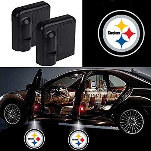 For Pittsburgh Steelers Car Door Led Welcome Laser Projector Car Door Courtesy Light Suitable Fit for all brands of cars (Pittsburgh Steelers)