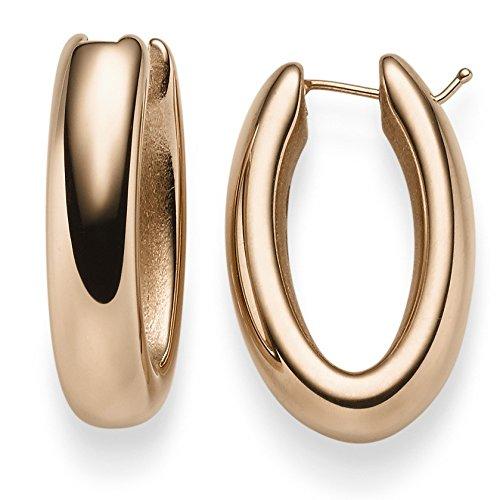 Paire de Boucle d'oreilles créoles 27,5x 6,5mm Boucles d'oreilles Bijoux en or 585or rouge brillant facile