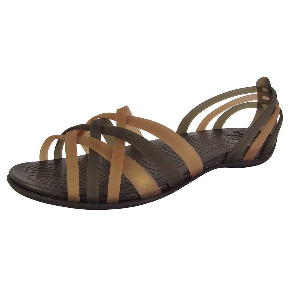 16843806fc385 Galleon - Crocs Women's Huarache Flat, Bronze/Espresso, 5 M US