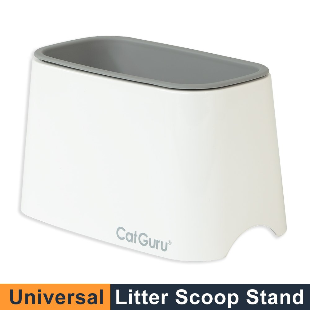 CatGuru New Premium Cat Litter Scoop Holder Scooper Caddy Scoop Stand Pairs with Any cat Litter Box and fits All cat Litter Scoops