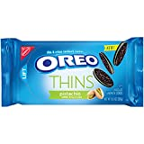 Supremely dunkable, Oreo Thins Pistachio Creme flavor sandwiches a rich pistachio creme filling between the tempting taste of two extra thin chocolate wafers--making them milk's favorite cookie.