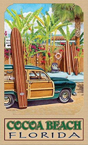 Northwest Art Mall ED-4154 BA x Cocoa Beach Florida Beach Access Print by Artist Evelyn Jenkins Drew, 11