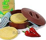 Tortilla Warmer 9' Inch Microwave Safe Tortilla Keeper w/ Lid...
