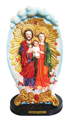 (8.4 Inch Holy Family with Light Home Decoration Lamp Decorative Votive Religious Light)