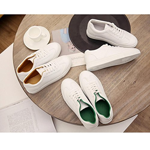 Binmer (tm) Femmes Printemps / Automne Loisirs Plat Blanc Chaussures Casual Chaussures De Voyage Vert