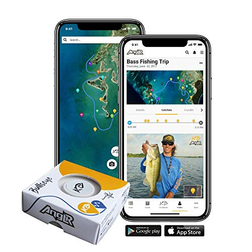 (ANGLR Bullseye Fishing Tracker - Portable Bluetooth Smartphone GPS with Satellite Imagery and Logbook for Kayak, Bass, Saltwater, and Fly Fishing)
