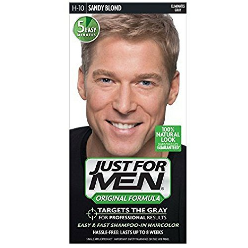 JUST FOR MEN Hair Color H-10 Sandy Blond 1 ea (Pack of 8) by Just for Men