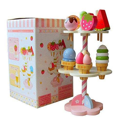 VIDOO Hölzerne Kids Spielzeug Spiel Haus Erdbeere EIS Stand Geschenke 1 Set B07J4W9D3C Entwicklungsspielzeug für besondere Förderung Spaß für Kinder | Schön und charmant