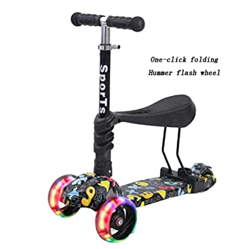 YUMEIGE Patinetes Kick Scooter 3 en 1 con Asiento Ideal para ...