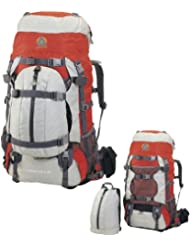 High Peak USA Alpinizmo Luna 55+10 Backpack, Red