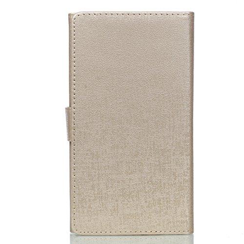 Wallet case téléphone pour iPhone 7 plus (gold)