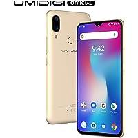 "UMIDIGI Power, Smartphone Android 9.0 Pie 5150mAh 18W 6.3""FHD+ Notch a goccia 4GB+64GB Octa-Core Helio P35 Fotocamera 16MP+5MP, NFC, Global Version - Oro"