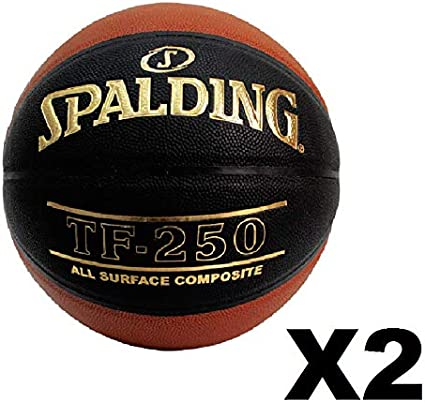 2 Pack Spalding TF-250 Basketball Brick Black Size 29.5