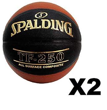 2 Pack Spalding TF-250 Basketball Brick Black Size 29.5