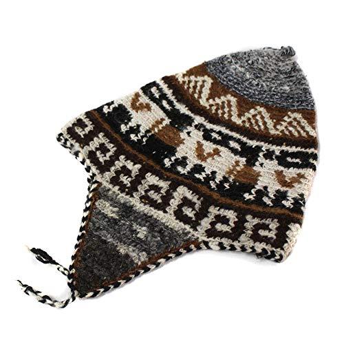 - CHULLO cap hat ALPACA WOOL INCAICO hand made in PERU Grey dsg 38