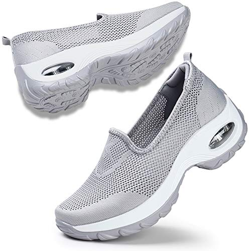 Women's Casual Walking Shoes Breathable Mesh Work Slip-on Sneakers 8