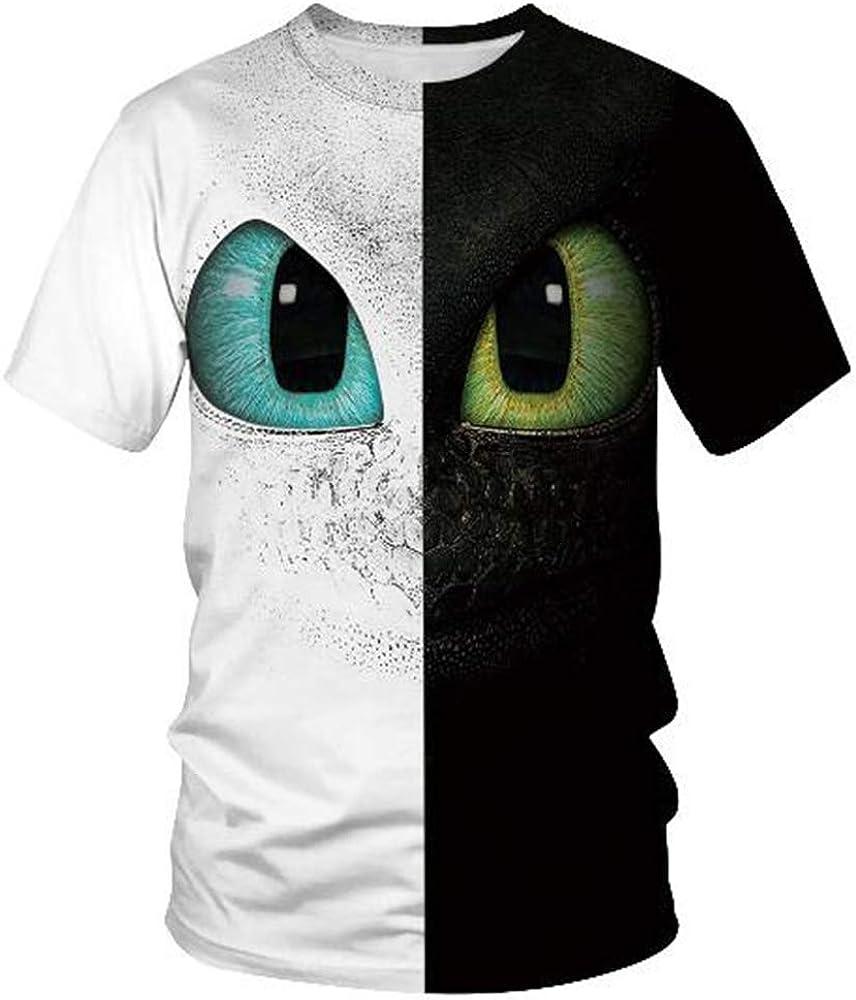 Tops para Hombre Camiseta Hombre Blusa Hombres 3D Impreso Manga Corta Moda Tendencia,3D impresión Digital Ojo Blanco L: Amazon.es: Ropa y accesorios