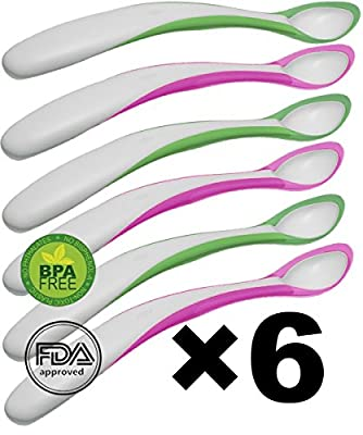 Baby Feeding Spoon 6pc -BPA Free -organic Eco friendly - Heat Sensitive Color Change