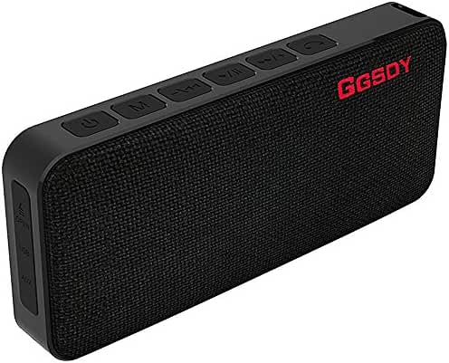 Bluetooth Speakers, Hapyia Portable Speaker with Waterproof IPX7 Rating, Loudest Wireless Outdoor Speakers with 10W Stereo Sound and Enhanced Bass for iPhone 7 Plus iPad and Android Phones (Black)