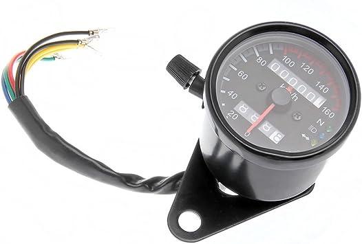 Motorrad Tachometer Led Licht Tacho Gauge Kmh Kilometerzähler Speedometer Auto