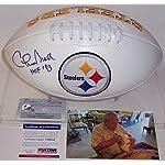 50862d4d6 Chuck Noll Autographed Football - Logo - PSA DNA Certified - Autographed  Footballs.