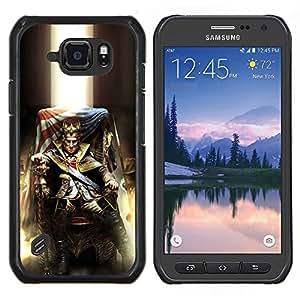 EJOOY---Cubierta de la caja de protección para la piel dura ** Samsung Galaxy S6Active Active G890A ** --Loco Rey EE.UU.