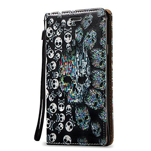 Carcasa para Samsung Note 4 Funda Libro de PU Leather Cuero Suave -Sunroyal ® [Anti-Scratch] Ultra Slim Flip Case Cover, Cierre Magnético, Función de Soporte Plegar ,Billetera con Tapa para Tarjetas P A-03
