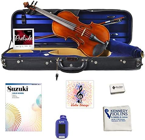 Antonio Giuliani Primo Violin 1/4 Size Bundle By Kennedy Violins