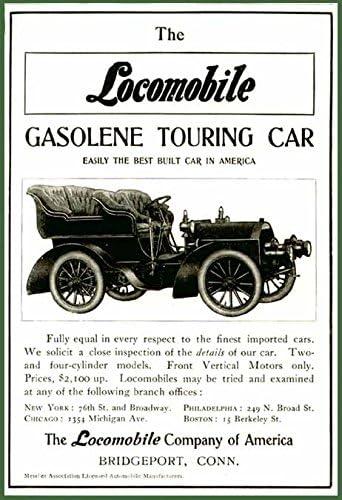 Amazon.com: Excellent 1904 Locomobile Gasolene Touring Cars AD ...