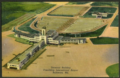Terminal Friendship International Airport Baltimore Maryland postcard - Airport Baltimore Maryland In