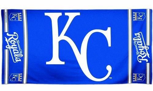 WinCraft MLB Kansas City Royals Fiber Beach Towel, 9lb/30 x 60