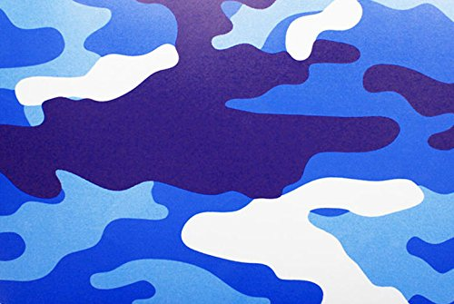 Rwraps Camouflage Vinyl Film Sheet Wrap Roll - Blue Camo 24