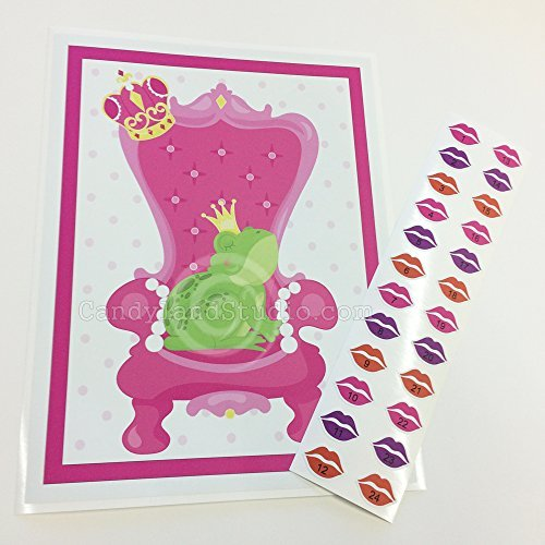 Kiss the Frog - Princess Party Restickable Poster Game by Stickamajigger