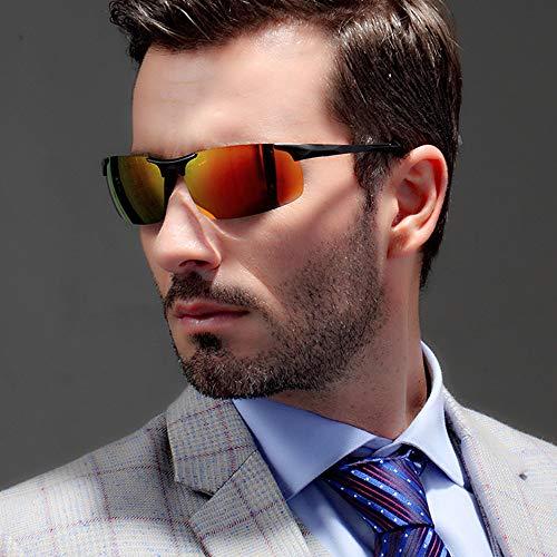 para Mg Gafas Hombre Al Ciclismo Negro Pesca UV para Protección AMZTM El de Polarizadas Sol Deportivas Gafas Rojo Ultraligero 05pcqwg1