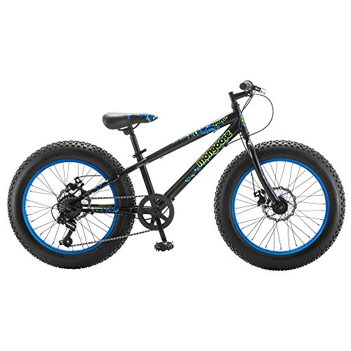 Mongoose Pug 20″ Wheel Boy's Fat Tire Bicycle, Black