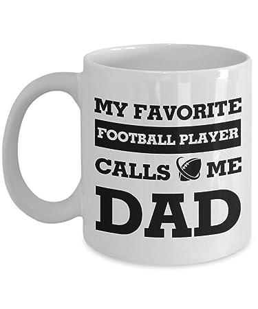 6a91974f My Favorite Football Player Calls Me Dad Mug, 11 oz Ceramic White Coffee  Mugs,