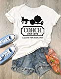 Pumpkin Coach EST 1972. Hand Screen Printed With Eco Water Based Ink. Disney Cinderella Coach. Disney Inspired Shirt. Wide Neck Shirt. T Shirt. Unisex Fit.
