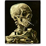 DECORARTS - Head of a Skeleton with a Burning Cigarette. Vincent Van Gogh Reproductions. Giclee Print for Wall Decor. 24x30