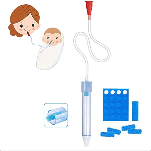 Fovely Aspirador Nasal, Aspirador Nasal para bebés con 24 filtros, Aspirador Nasal para bebés, irrita, rápido y Reutilizable: Amazon.es: Hogar
