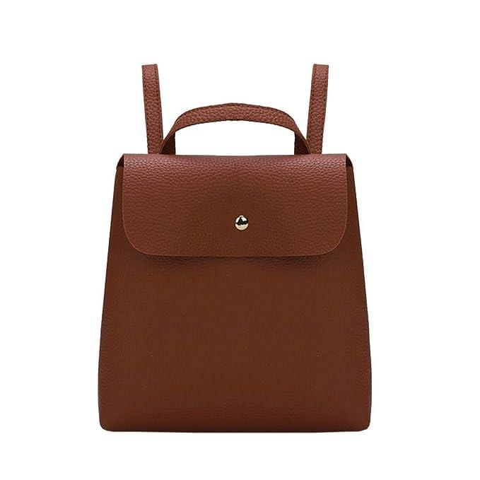 d93792c62ce9c Btruely Rucksack Damen Umhängetasche Mini Schultasche Frauen Tasche Mode  Leder Handtasche (Ein Größe