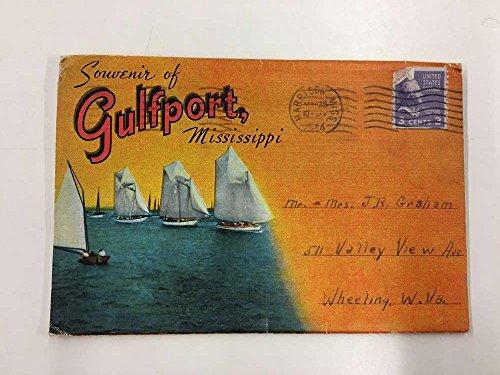 Gulfport Mississippi City Scene Souvenir Folder Antique Postcard K92220 (Mississippi Postcard)