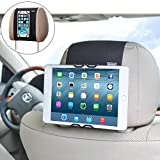 WANPOOL Universal Car Headrest Mount Holder for Cell Phones and Tablets – iPhone 6/6s/7 Plus –HUAWEI Mate 9 – Samsung Phones – iPad 2/3/4 – iPad Air – iPad Mini – iPad Pro 9.7'' and More