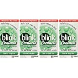 blink Contacts Lubricating Eye Drops For Soft & RGP Lenses - 0.34 oz, Pack of 4