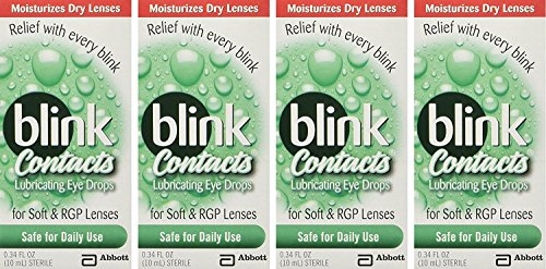 Drops Lens Rewetting (blink Contacts Lubricating Eye Drops 10 mL (Pack of 4))