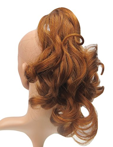 New Style Sweet Short Curly Pony Tail Hair Extension (Claw Grip) (Ginger Honey) Synthetic - Extension Ginger