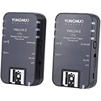 Yongnuo YN-622N II Wireless TTL Flash Trigger with HSS for Nikon Cameras D7300 D7200 D7100 D7000 with WINGONEER Diffuser